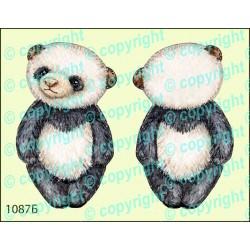 Велюрик медвежонок панда