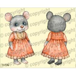 Велюрик мышка в красном платье
