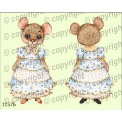 Велюрик мышка в платье