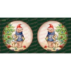 Велюрик рождественский шар