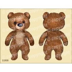 Велюрик плюшевый медведь