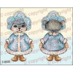 Велюрик мышка-снегурочка