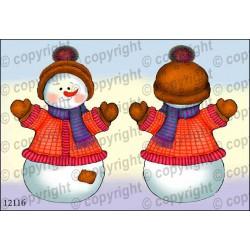 Велюрик снеговичок