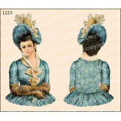 Велюрик дама в синем