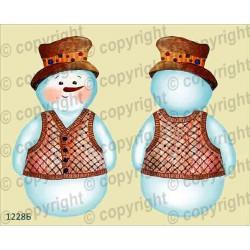 Велюрик снеговик в жилетке