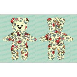 Велюрик медведь в цветочек