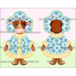 Велюрик корова-снегурочка