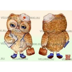 Велюрик сова-доктор