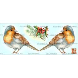Велюрик птица и ягоды...