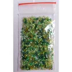 Бисер смесь цветов - зеленый