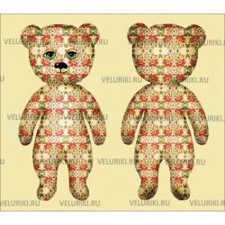 Велюрик медведь зеленоглазый