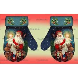 Велюрик рождественский Варежка