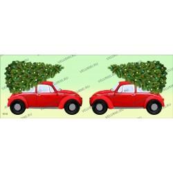 Велюрик Автомобиль с елкой