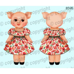 Велюрик свинка девочка