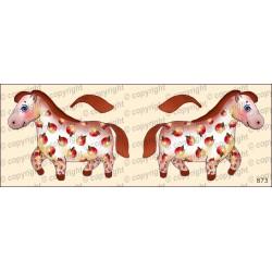Велюрик лошадка в яблоках