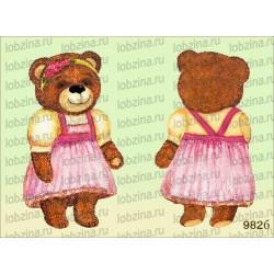Велюрик медведица в сарафане