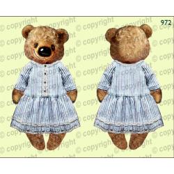Велюрик медведица в платье