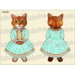 Велюрик кошка в платье