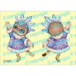 Велюрик сова-снежинка
