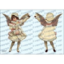 Велюрик рождественский ангел