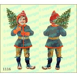 Велюрик мальчик с ёлкой