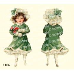 Велюрик девочка в зелёном...