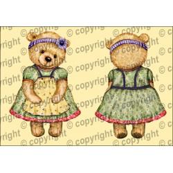 Велюрик медведица в фартуке